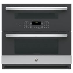 GE Profile 30-inch Double Electric Wall Oven Self-Cleaning with Convection in Stainless Steel