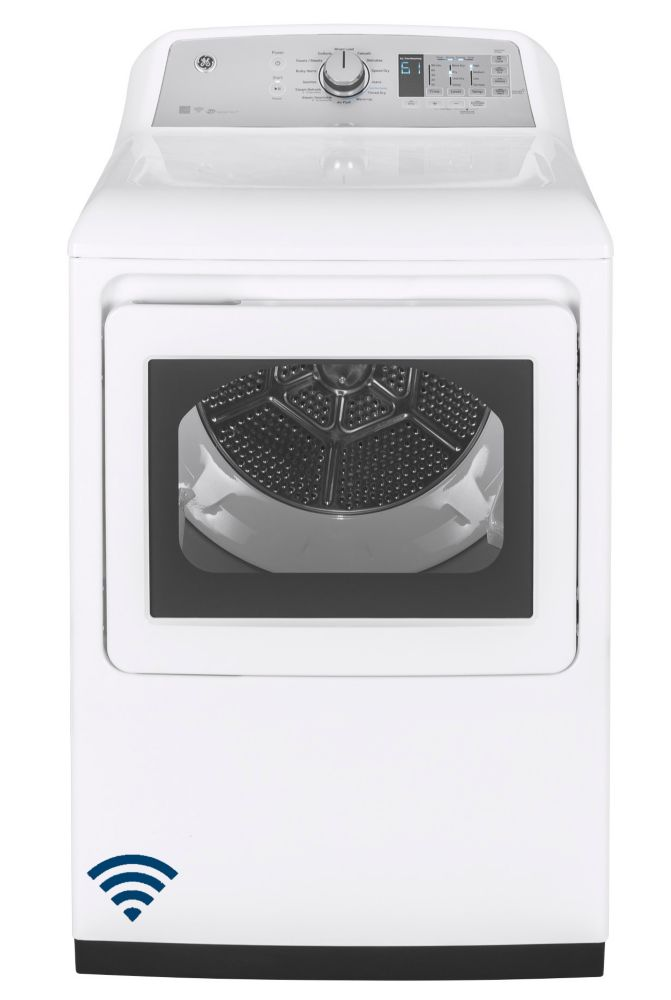 GE 7.4 cu. ft. capacity aluminized alloy drum electric dryer with HE Sensor Dry - ENERGY STAR®