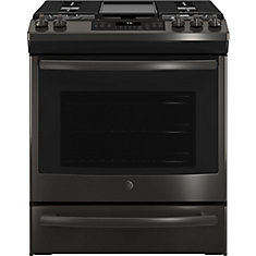 Slide-In Premium Black Stainless Steel Appearance 5.6 cu ft Convection Gas Range