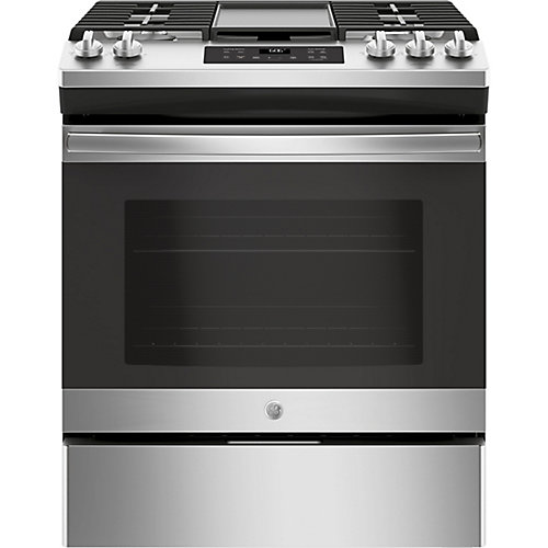 30-inch 5.4 cu. ft. Single Oven Gas Range with Steam Clean in Stainless Steel