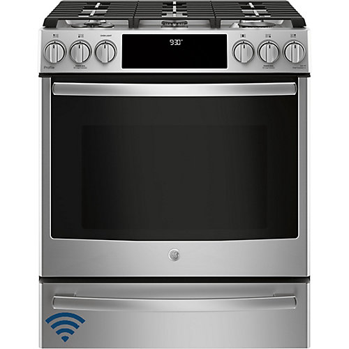 30-inch 5.6 cu. ft. Single Oven Gas Range with Self-Cleaning Convection Oven in Stainless Steel