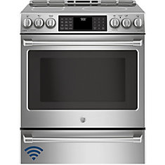 30-inch 5.6 cu.ft. Single Oven Electric Range with Self-Cleaning Convection Oven  in Stainless Steel