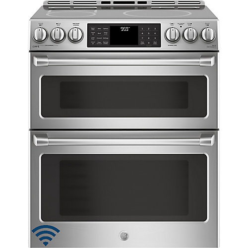 30-inch 6.7 cu. ft. Double Oven Electric Induction Range with Self-Cleaning Convection Oven in Stainless Steel