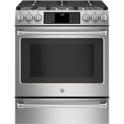 Café 30-inch 5.6 cu. ft. Single Oven Gas Range with Self-Cleaning Convection Oven in Stainless Steel