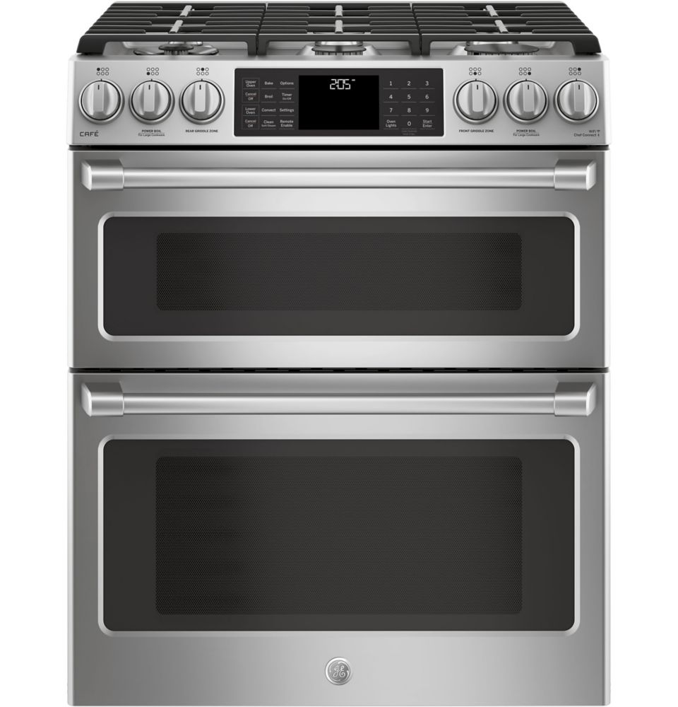 Café Slide-In Dual Fuel, 6.7 cu ft PreciseAir convection, Wifi Connected Oven