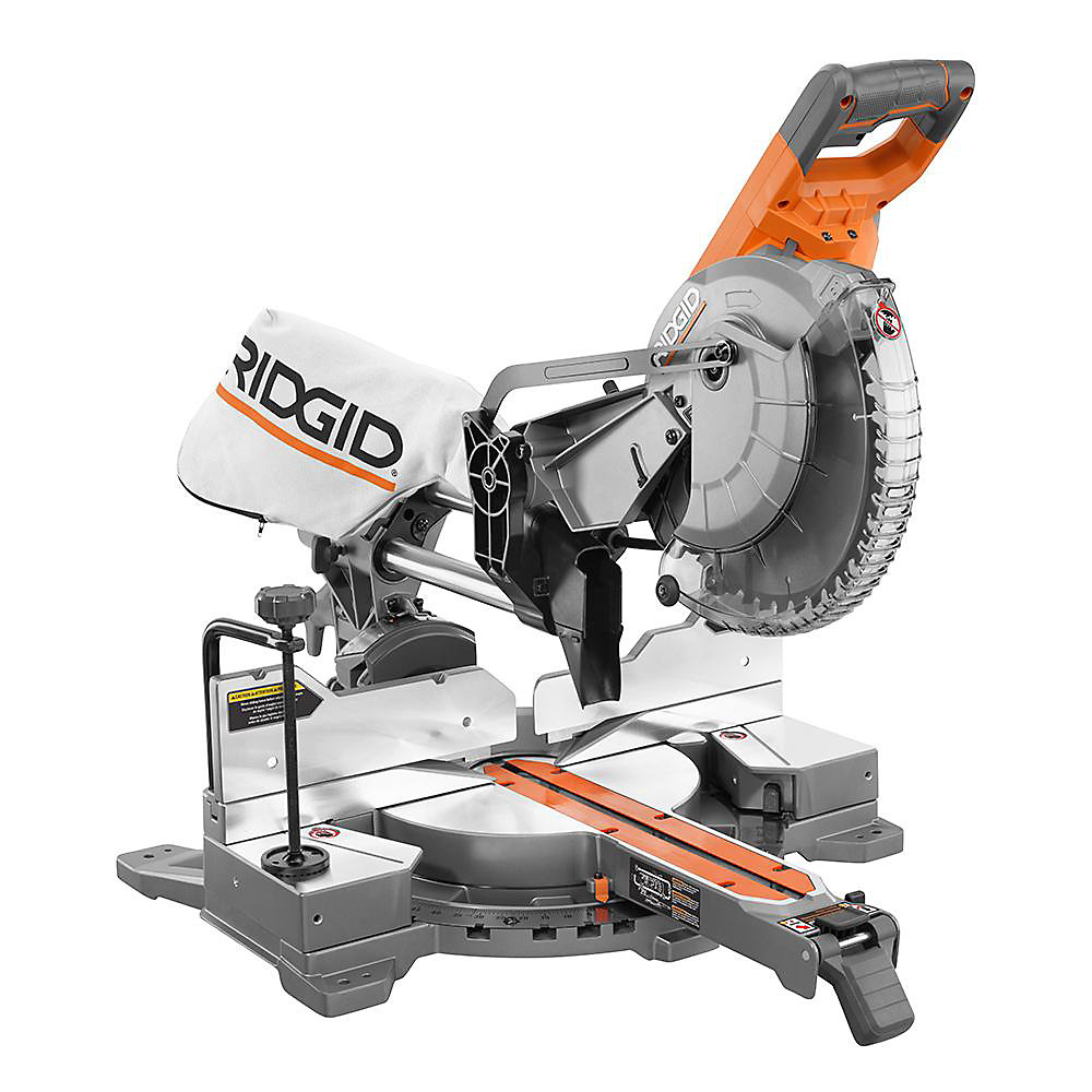 15 Amp 10-Inch Corded Dual Bevel Sliding Miter Saw with 70° Miter Capacity