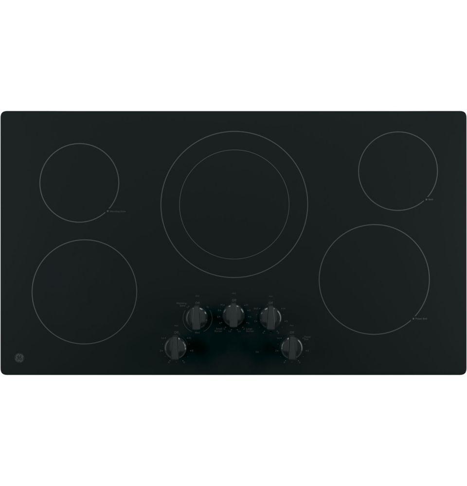 GE 36 Black on Black Radiant Cooktop