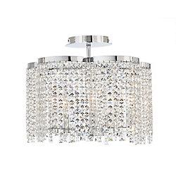 Eurofase Semi-plafonnier en cristal à cinq ampoules