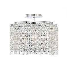 5-Light Crystal Semi-Flushmount