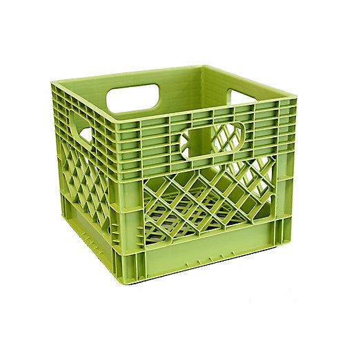 Storage Tote  Milk Crate - 25L/6.5gal - Key Lime
