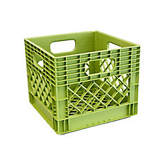 Storage Tote  Milk Crate - 25L/6.5gal - Key Lime