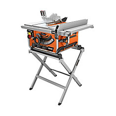 15 Amp Corded 10-Inch Compact Table Saw with Carbide Tipped Blade and Folding X-Stand