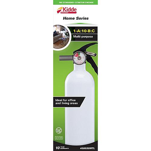 1-A:10-B:C Multipurpose Home Series White Fire Extinguisher