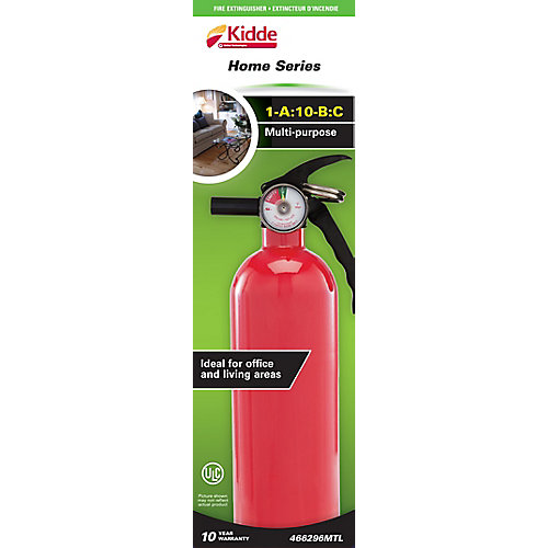 1-A:10-B:C Multipurpose Home Series Red Fire Extinguisher