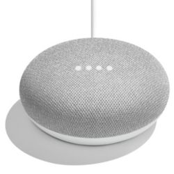 Google Home Mini Smart Speaker with Assistant in Chalk