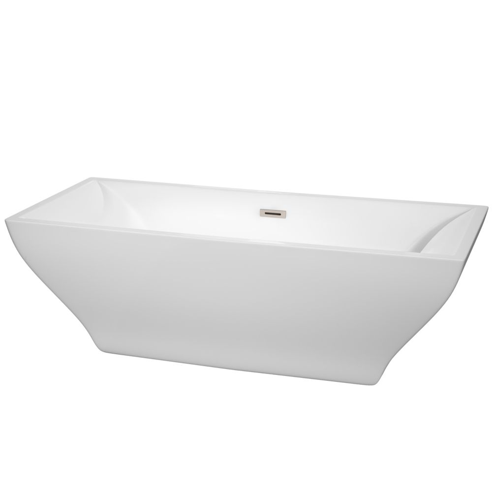 Maryam 71 Inch Freestanding Bathtub In White With