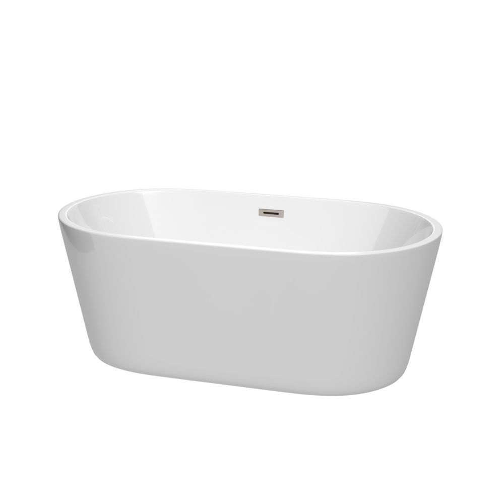 MAAX Avenue 60-inch Alcove Bathtub in White with Right-Hand Drain ...