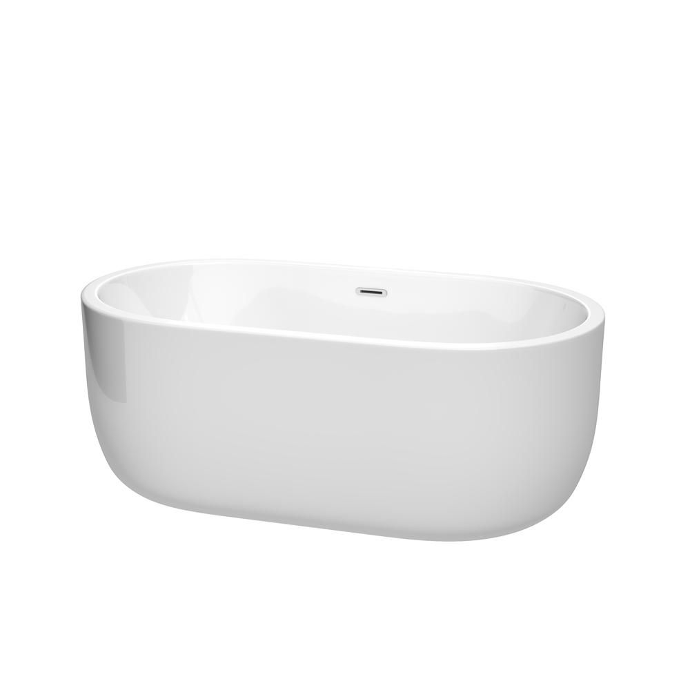 malta bath victoria 4 feet 11 inch freestanding clawfoot non whirlpool bathtub in white with. Black Bedroom Furniture Sets. Home Design Ideas