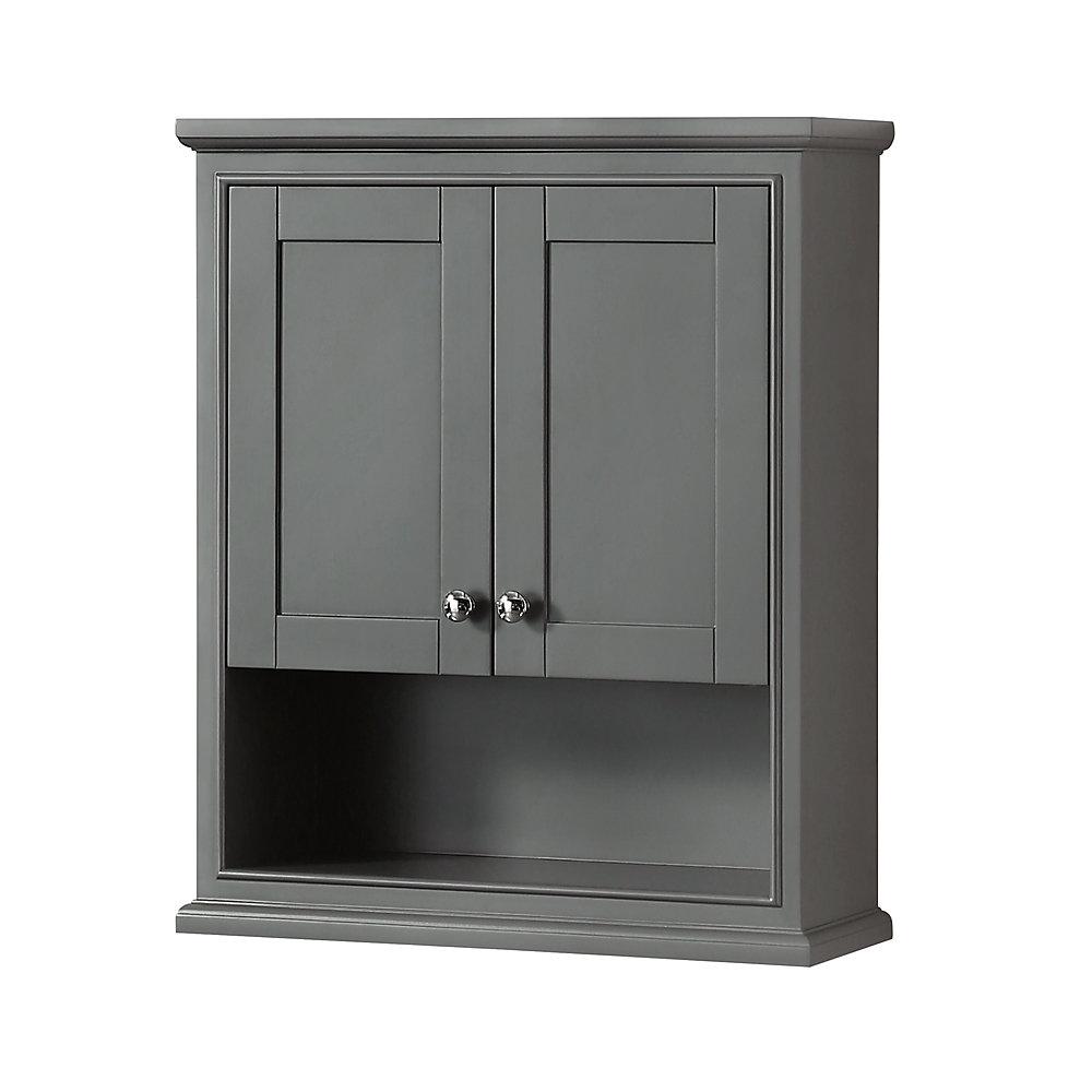 Miraculous Deborah Bathroom Wall Mounted Storage Cabinet In Dark Gray Download Free Architecture Designs Meptaeticmadebymaigaardcom