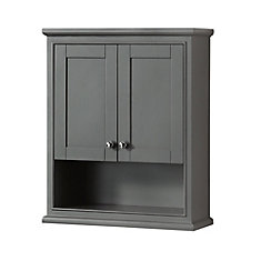 Deborah Bathroom Wall-Mounted Storage Cabinet in Dark Gray
