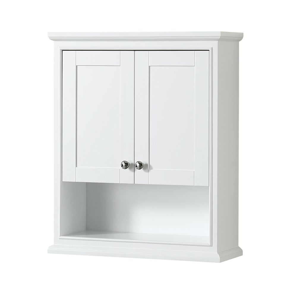 White Bathroom Wall Cabinets. Decoration:Glass Medicine Cabinet ...