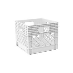 Storage Tote Milk Crate - 25L/6.5gal - White