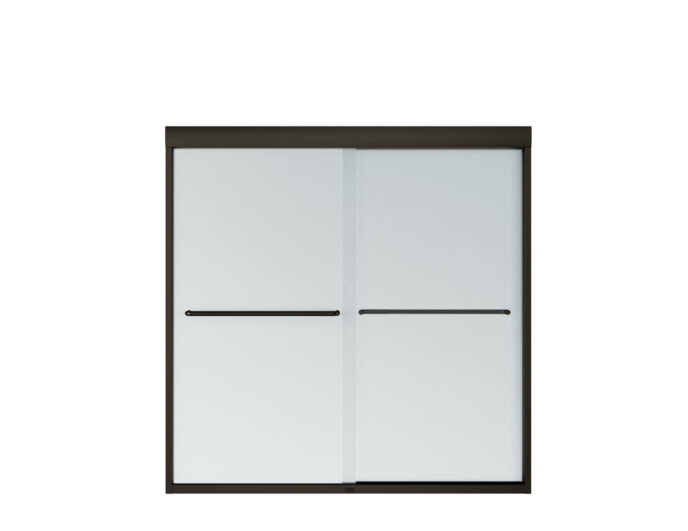 maax tonik 59 x 57 po porte bain douche coulissante sans cadre mistelite bronze fonc home. Black Bedroom Furniture Sets. Home Design Ideas