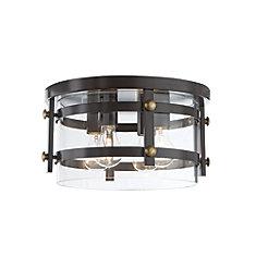 4-Light Oil-Rubbed Bronze Flush Mount Light Fixture