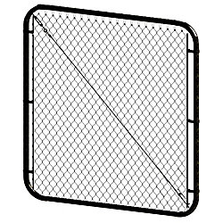 Peak Products 5 ft. H x 48- inch W Black Adjustable Pool Gate
