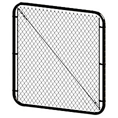 5 ft. H x 48- inch W Black Adjustable Pool Gate