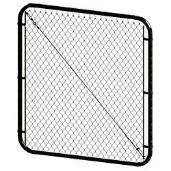 Peak Products 5 ft. H x 48- inch W Black Adjustable Pool Gate
