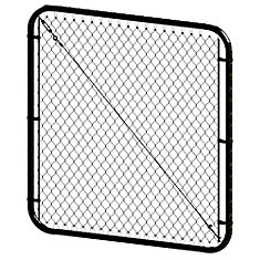 5 ft. H x 72-inch W  Black Adjustable Chain Link Gate