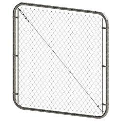 Peak Products Barrière à mailles de chaîne ajustable - 5 pieds hauteur x 72 pouces de largeur - Galvanisé