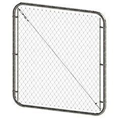 5 ft. H x 72-inch W Galvanized Adjustable Chain Link Gate