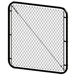 Peak Products 4 ft. H x 72-inch W  Black Adjustable Chain Link Gate