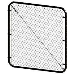 Peak Products Barrière à mailles de chaîne ajustable - 4 pieds hauteur x 72 pouces de largeur - Noir
