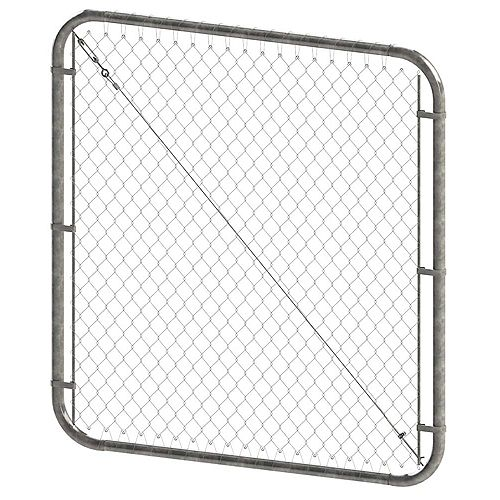 Peak Products 4 ft. H x 72-inch W Galvanized Adjustable Chain Link Gate