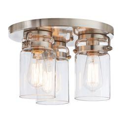 Home Decorators Collection 3-Light Flush Mount