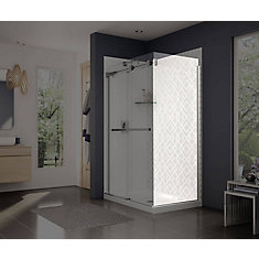 Frameless Fixed Shower Door Panel in Chrome
