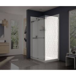 MAAX Frameless Fixed Shower Door Panel in Chrome