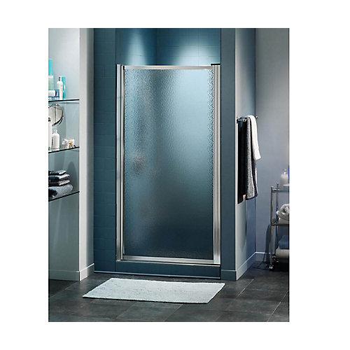 Pivolok 28 3/4 inch x 64 1/2 inch Framed Pivot Shower Door in Chrome