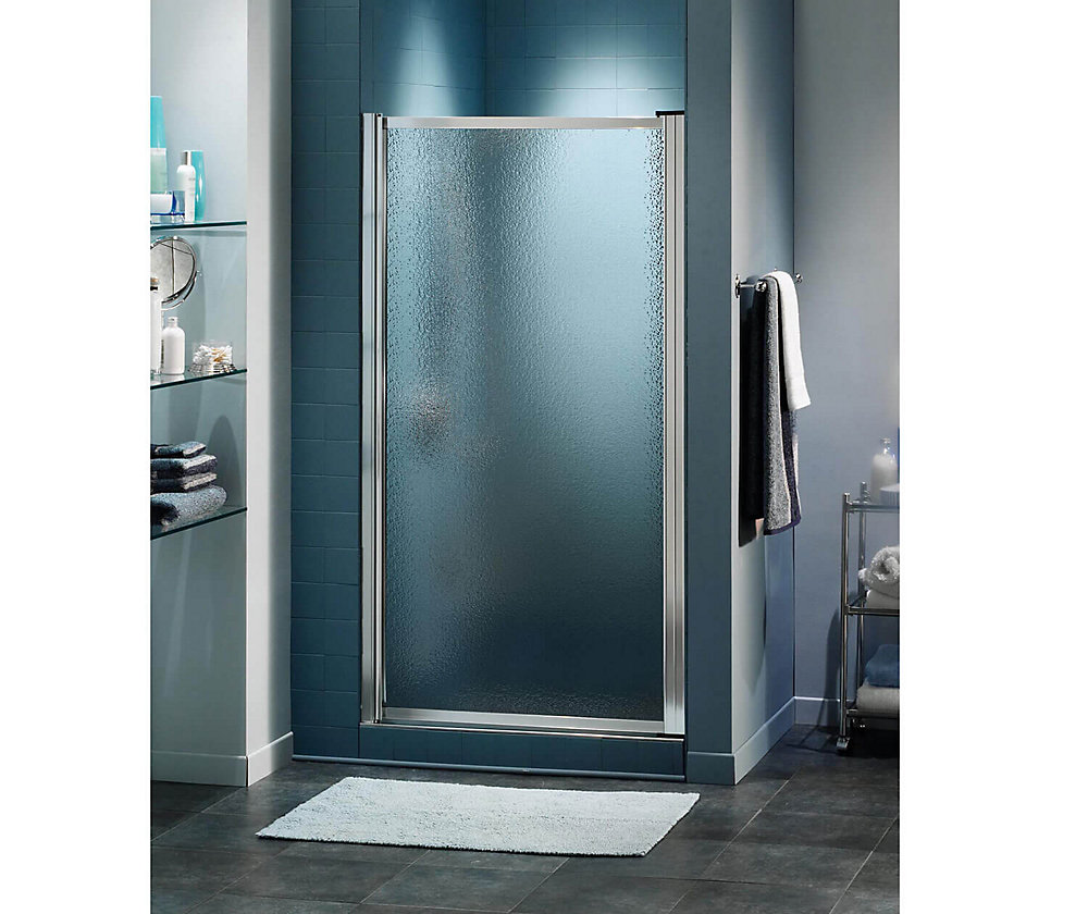 Pivolok 24 3/4 inch x 64 1/2 inch Framed Pivot Shower Door in Chrome