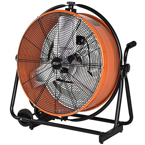Commercial Electric 24-inch Heavy Duty Direct Drive Orbital Drum Fan