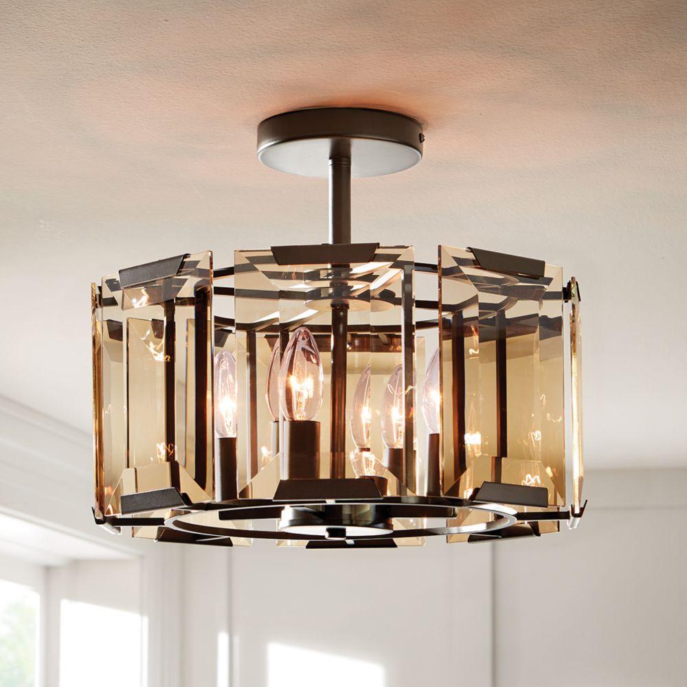 Home Decorators Collection Montevano 4 Light Semi-Flushmount