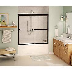 Tonik 59 x 57 po porte bain douche coulissante sans cadre bronze foncé avec glissement en douce