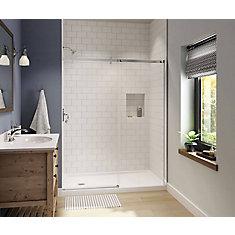 Luminescence 59 inch x 70 1/2 inch Frameless Sliding Shower Door in Chrome