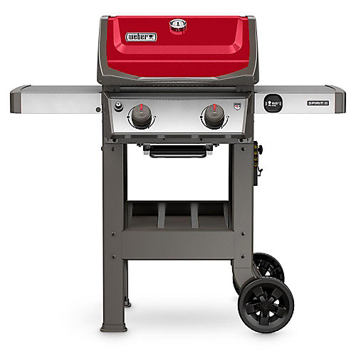 Spirit II E-210 2-Burner Propane Gas BBQ in Red