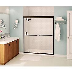 Tonik 59 inch x 71 inch Frameless Sliding Shower Door in Dark Bronze