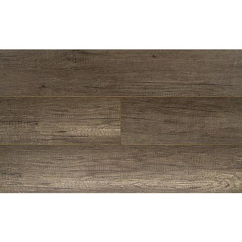 Plancher étanche, stratifié, 12 mm x 7,48 po x 47,72 po, Chêne Pebble, 19,80 pi2/boîte