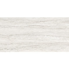 12-inch x 24-inch Travertino Ivory HD Pol. Rect. Porc. Tile